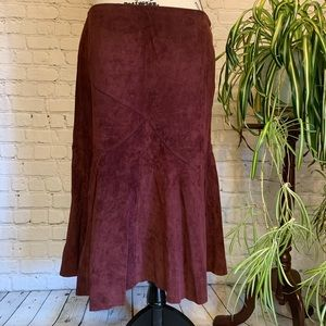 Ideology Suede leather Burgundy skirt